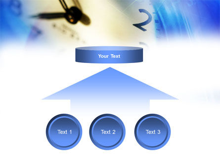 Blue Clock Theme PowerPoint Template Slide 8