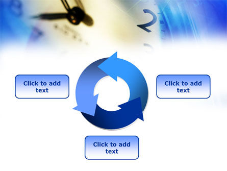 Blue Clock Theme PowerPoint Template Slide 9