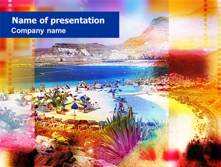 Careers/Industry: Resort Beach PowerPoint Template #00991