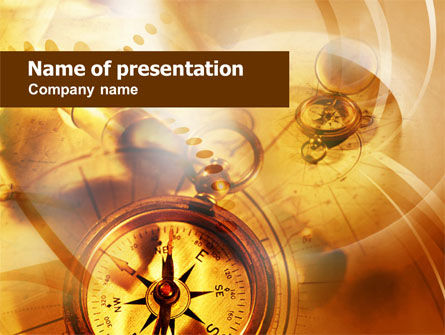 Art & Entertainment: Compass Gele Thema PowerPoint Template #00992