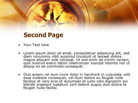 Compass Yellow Theme PowerPoint Template, Slide 2, 00992, Art & Entertainment — PoweredTemplate.com