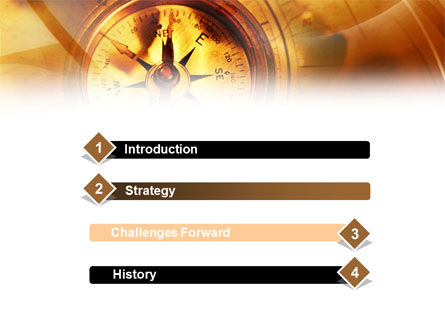 Compass Yellow Theme PowerPoint Template, Slide 3, 00992, Art & Entertainment — PoweredTemplate.com