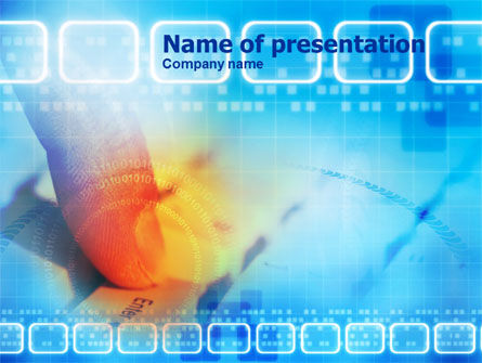 Technology and Science: Enter Key PowerPoint Template #00994