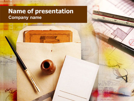 Business Concepts: Business Vintage Stationery Free PowerPoint Template #00996