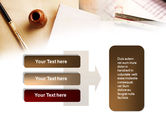 Business Vintage Stationery Free PowerPoint Template#11