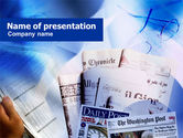 Business: Business Newspapers PowerPoint Template #00997