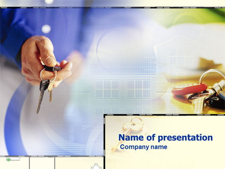 Business Concepts: House Keys Free PowerPoint Template #01001