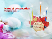 Holiday/Special Occasion: Happy Anniversary Cake PowerPoint Template #01002