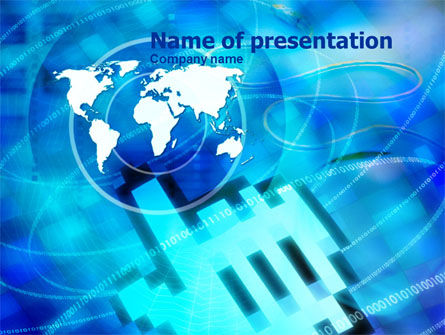Touch The World PowerPoint Template, 01003, Global — PoweredTemplate.com