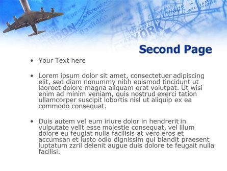 Air Transport Destinations PowerPoint Template Slide 2