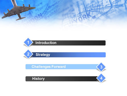 Air Transport Destinations PowerPoint Template, Slide 3, 01004, Cars and Transportation — PoweredTemplate.com