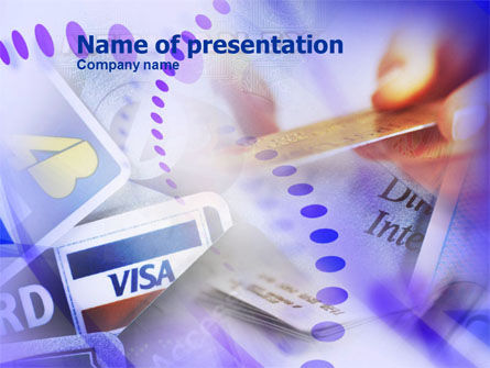 Visa Card PowerPoint Template, 01005, Business — PoweredTemplate.com