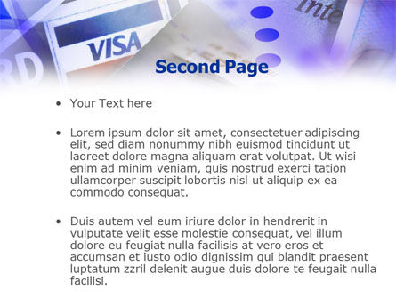 Visa Card PowerPoint Template, Slide 2, 01005, Business — PoweredTemplate.com
