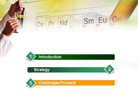 Laboratory Studies Of Chemistry PowerPoint Template, Slide 3, 01006, Technology and Science — PoweredTemplate.com