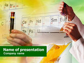 Technology and Science: Laboratory Studies Of Chemistry PowerPoint Template #01006