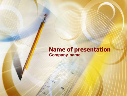 Business Concepts: Ruler and Pencil Free PowerPoint Template #01008
