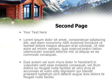 Mountain Cottage PowerPoint Template, Slide 2, 01010, Real Estate — PoweredTemplate.com