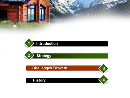 Mountain Cottage PowerPoint Template, Slide 3, 01010, Real Estate — PoweredTemplate.com