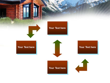 Mountain Cottage PowerPoint Template, Slide 4, 01010, Real Estate — PoweredTemplate.com