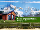 Real Estate: Mountain Cottage PowerPoint Template #01010