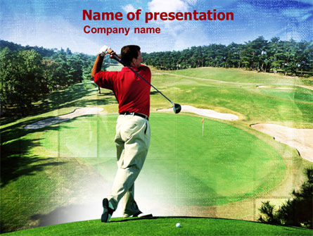 Golf Strike PowerPoint Template, 01011, Sports — PoweredTemplate.com