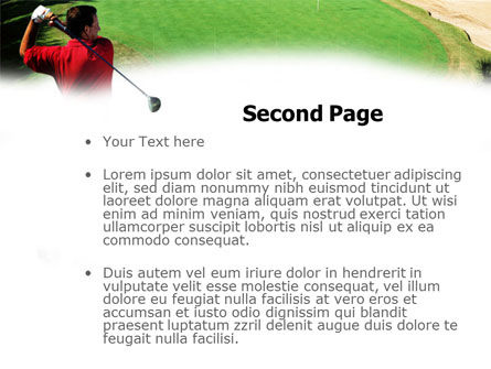 Golf Strike PowerPoint Template, Slide 2, 01011, Sports — PoweredTemplate.com