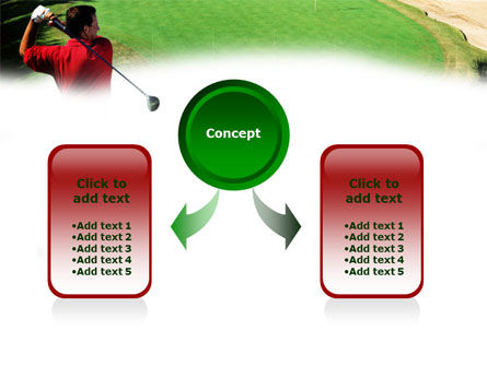 Golf Strike PowerPoint Template, Slide 4, 01011, Sports — PoweredTemplate.com