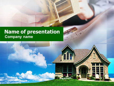 Real Estate: Plantilla de PowerPoint - cabaña #01013