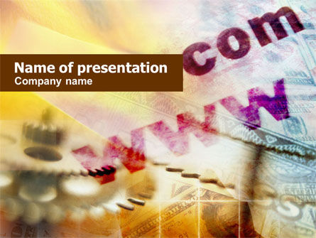 Business Concepts: Domain Names Registration PowerPoint Template #01015