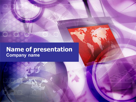 Global: Computer Land PowerPoint Template #01016