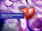 Global: Plantilla de PowerPoint - tierra de computadoras #01016