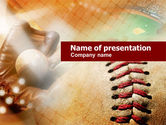 Sports: Ball Stitching PowerPoint Template #01019