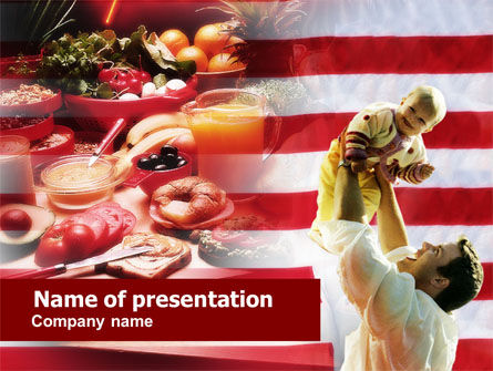 American Food PowerPoint Template