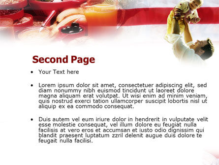 American Food PowerPoint Template Slide 2