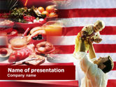 Food & Beverage: American Food PowerPoint Template #01020