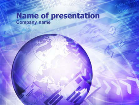 Web Business PowerPoint Template, 01022, Abstract/Textures — PoweredTemplate.com