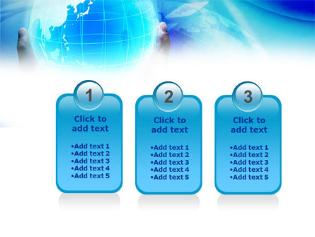Blue Globe In Hands PowerPoint Template Slide 16