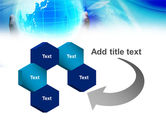 Blue Globe In Hands PowerPoint Template#11