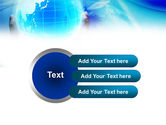 Blue Globe In Hands PowerPoint Template#12
