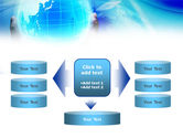 Blue Globe In Hands PowerPoint Template#13