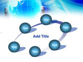 Blue Globe In Hands PowerPoint Template#14