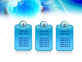 Blue Globe In Hands PowerPoint Template#16