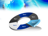 Blue Globe In Hands PowerPoint Template#19