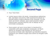 Blue Globe In Hands PowerPoint Template#2