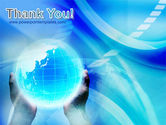Blue Globe In Hands PowerPoint Template#20