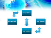 Blue Globe In Hands PowerPoint Template#4