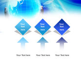 Blue Globe In Hands PowerPoint Template#5