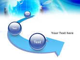 Blue Globe In Hands PowerPoint Template#6
