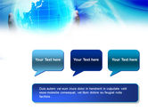 Blue Globe In Hands PowerPoint Template#9