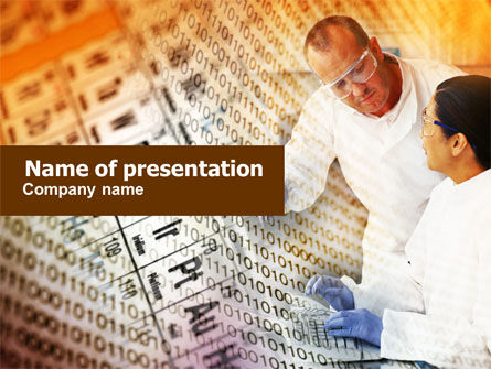 Technology and Science: Chemical Research PowerPoint Template #01028